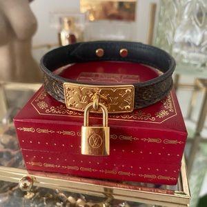Louis Vuitton monogram Lock Me bracelet